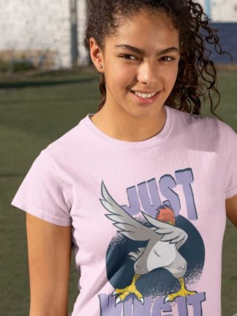 6S1221 lovely girl in a Just Wing It light pink Tshirt