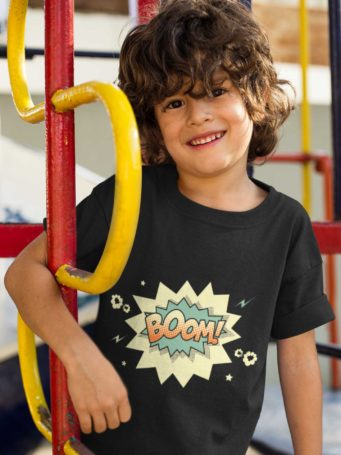6S1260 Sweet Boy In A Black Boom Tshirt