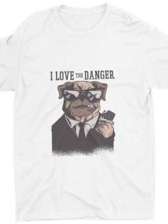White I Love Danger Tshirt
