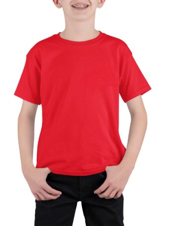 Boys Red 100% cotton T-shirt