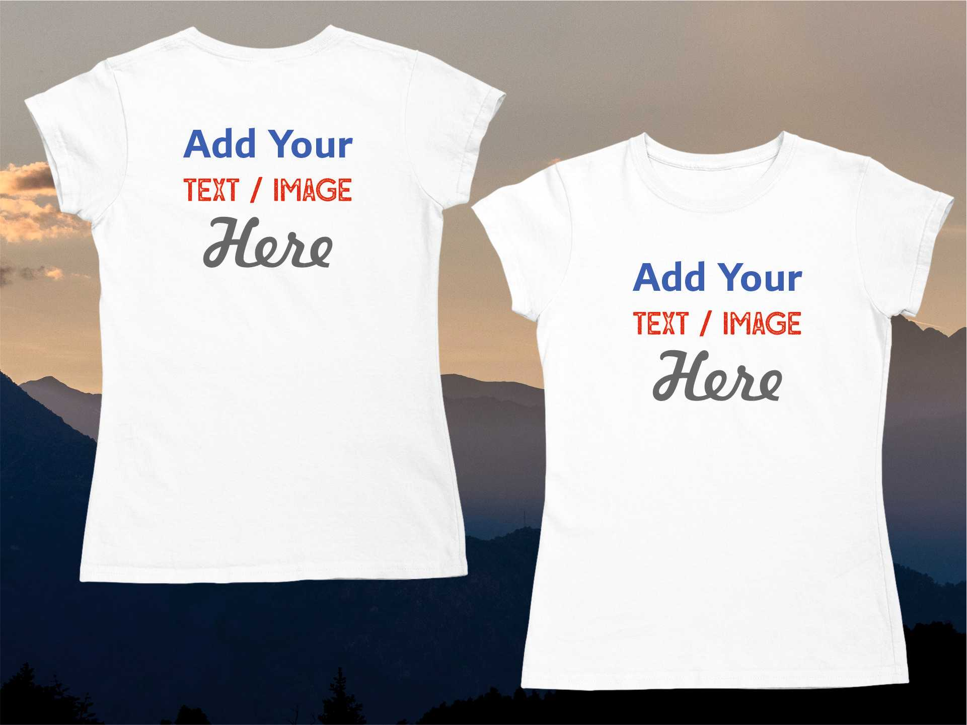 Personalise T-shirts - Girls